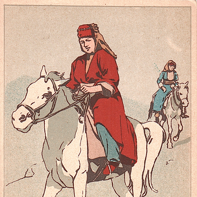 Kurdish Woman on Horseback