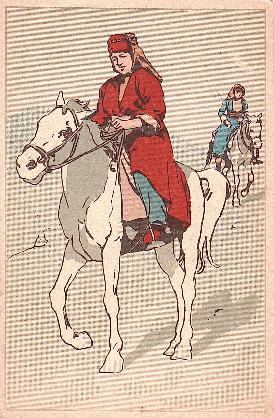 Kurdish Woman on Horseback